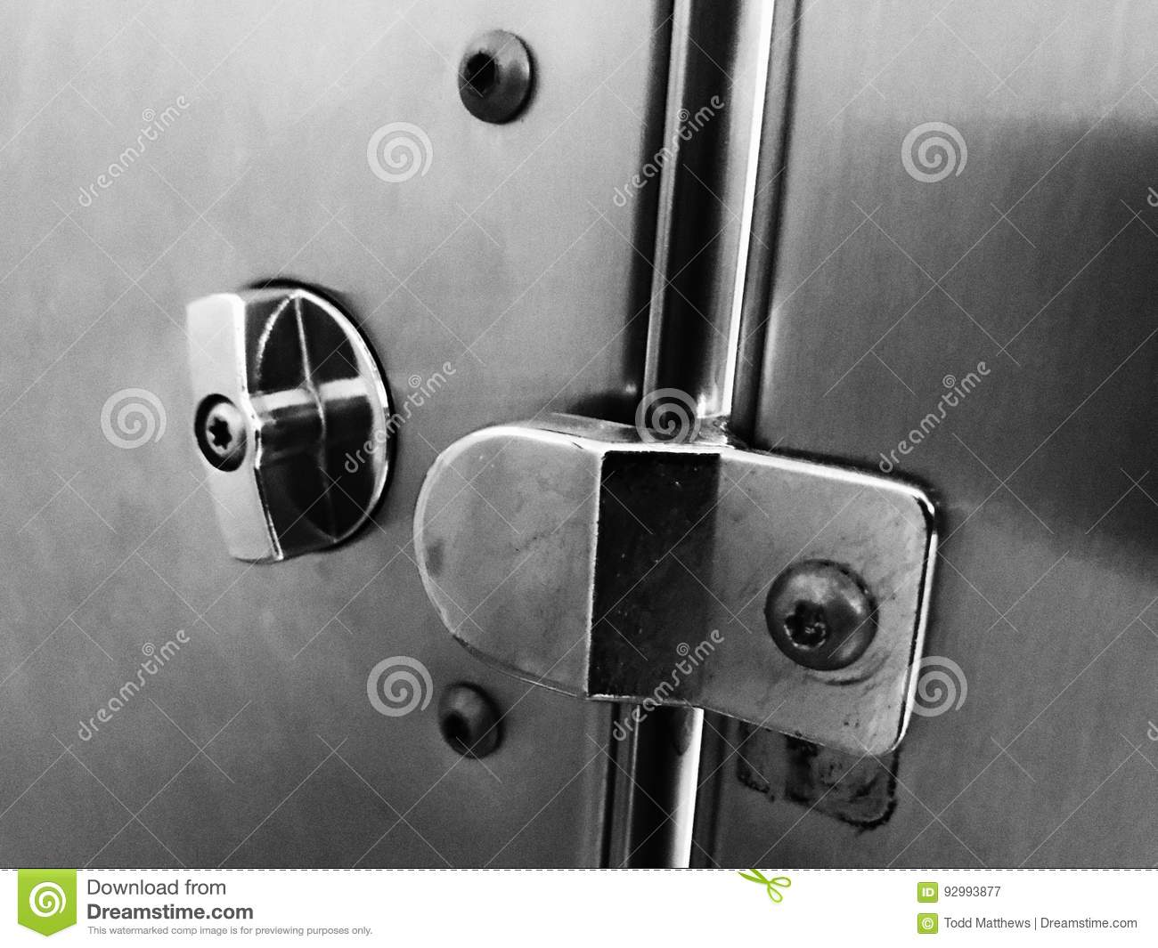 Bathroom Stall Door Lock Stock Image Image Of Bathroom - Latch for bathroom stall door