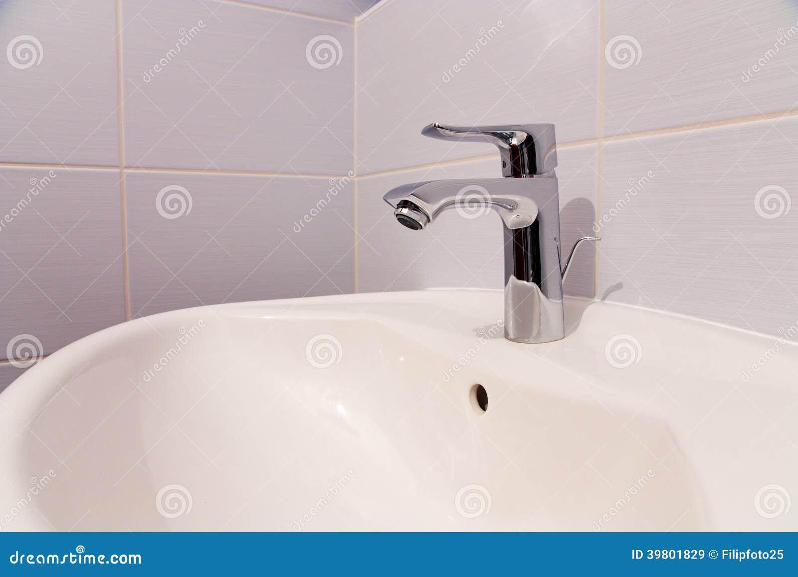 Bathroom tab stock image. Image of mixer, chrome, polished - 39801829