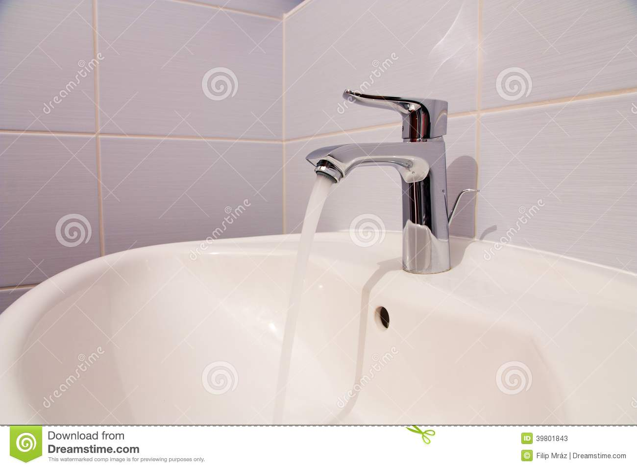 Bathroom tab stock image. Image of interiors, cold, cool - 39801843
