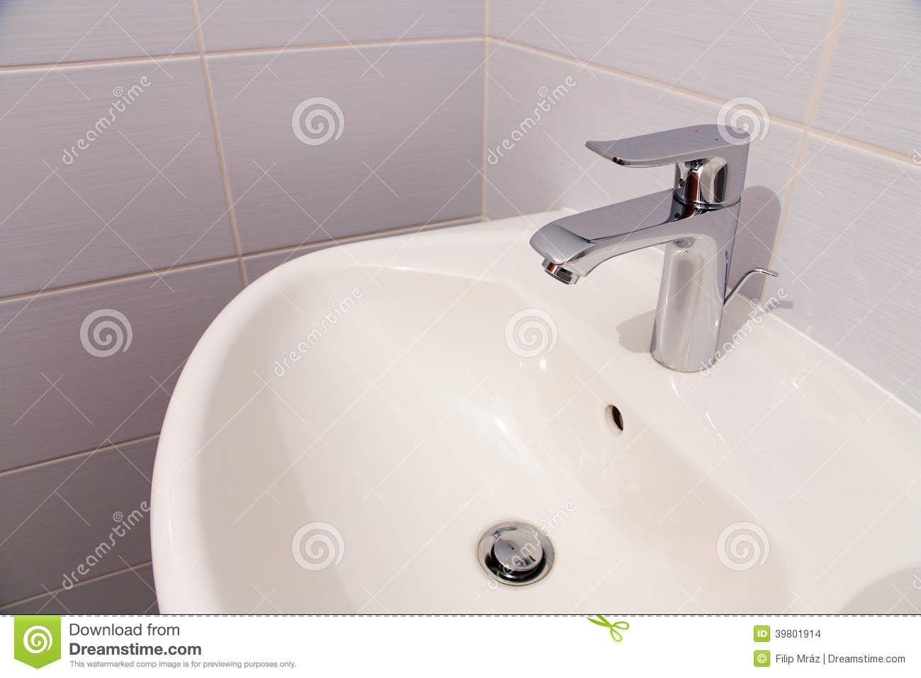Bathroom tab stock photo. Image of home, metal, marble - 39801914