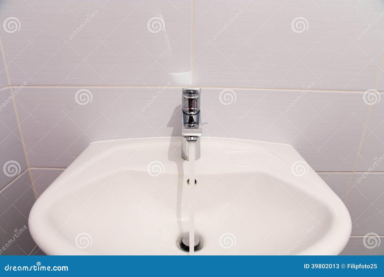 Bathroom tab stock image. Image of interiors, cool, modern - 39802013