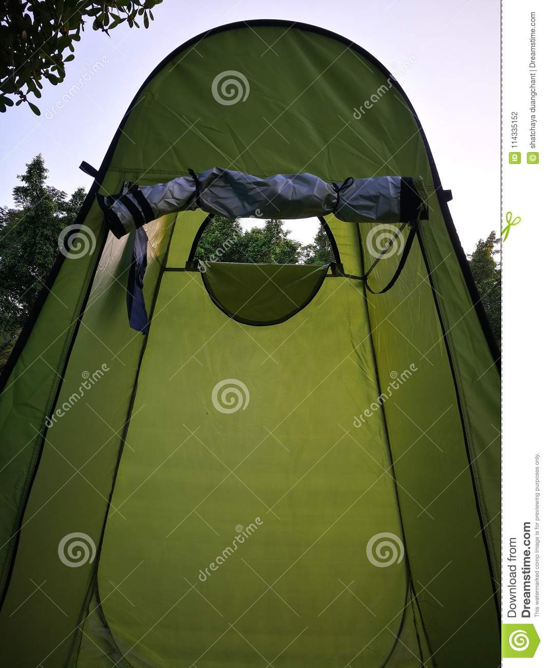 Bathroom tents for c&er wear or change clothes outdoor & Bathroom Tents For Camper Wear Or Change Clothes Outdoor Stock Photo ...