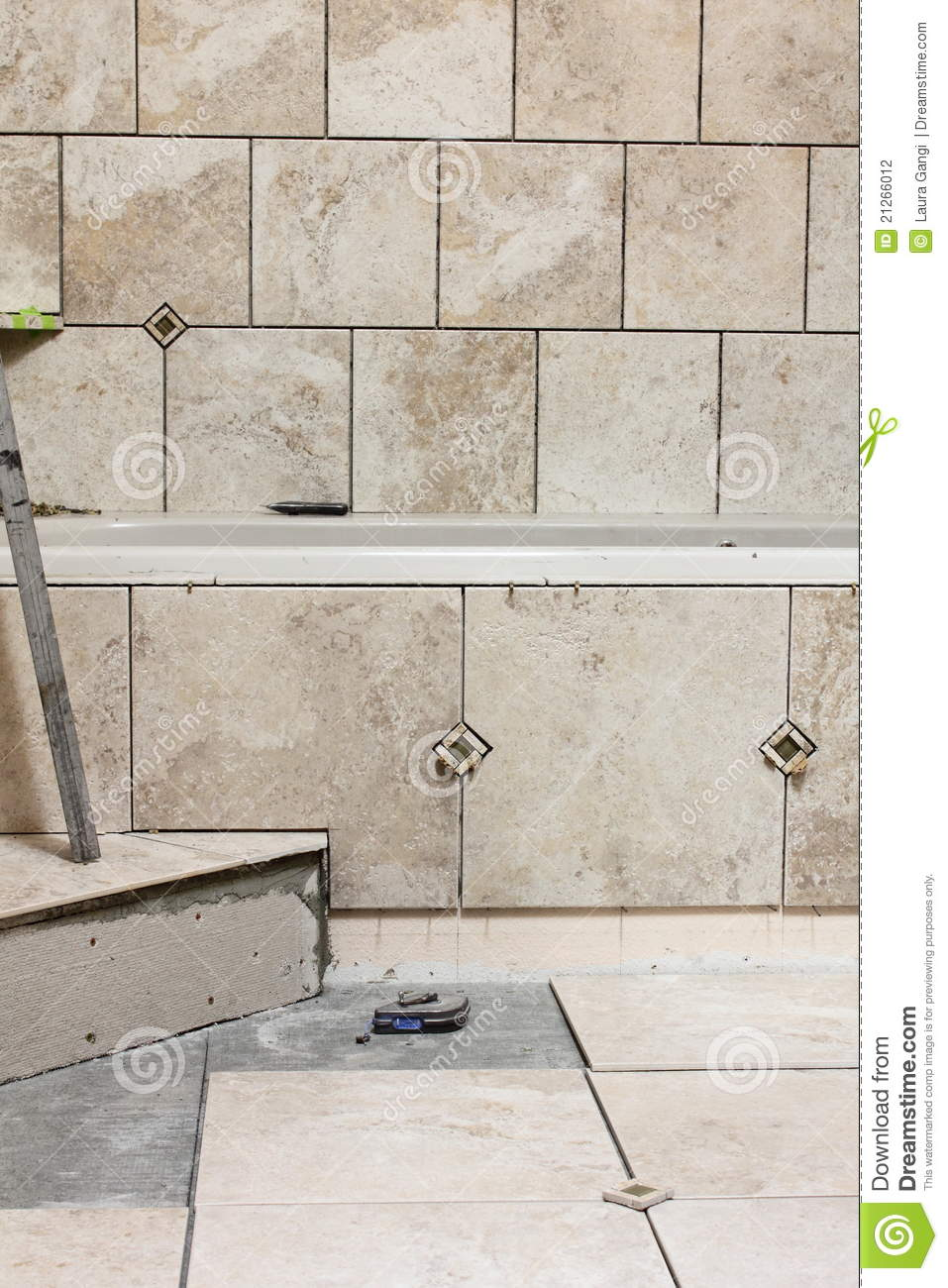 Bathroom Tile Remodel Project Stock Photography Image