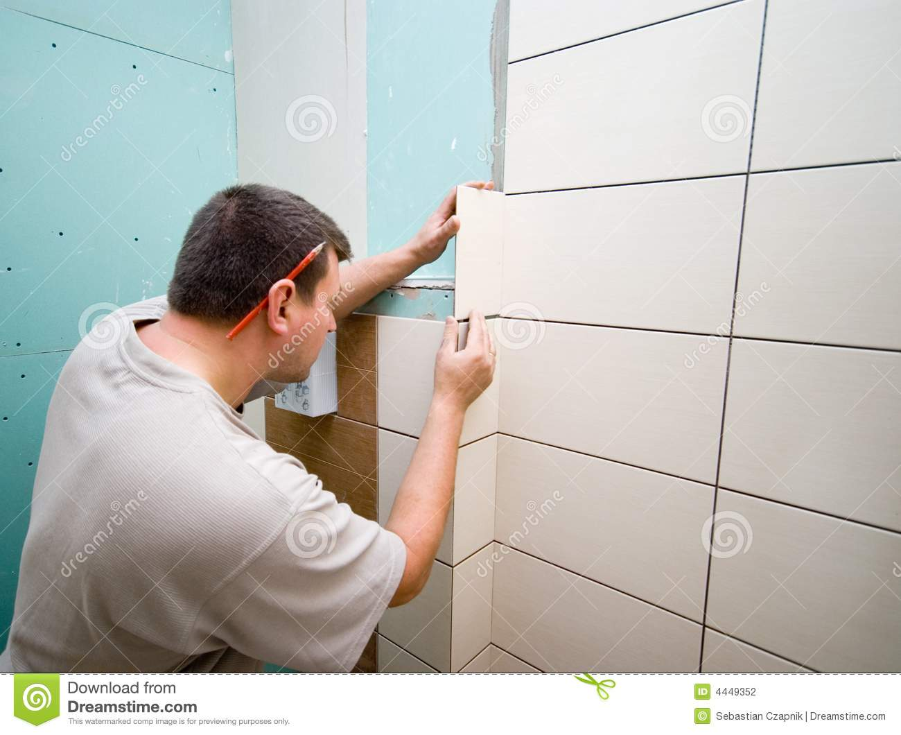 Bathroom Tiles Renovation bathroom tiles renovation stock photography - image: 4449352