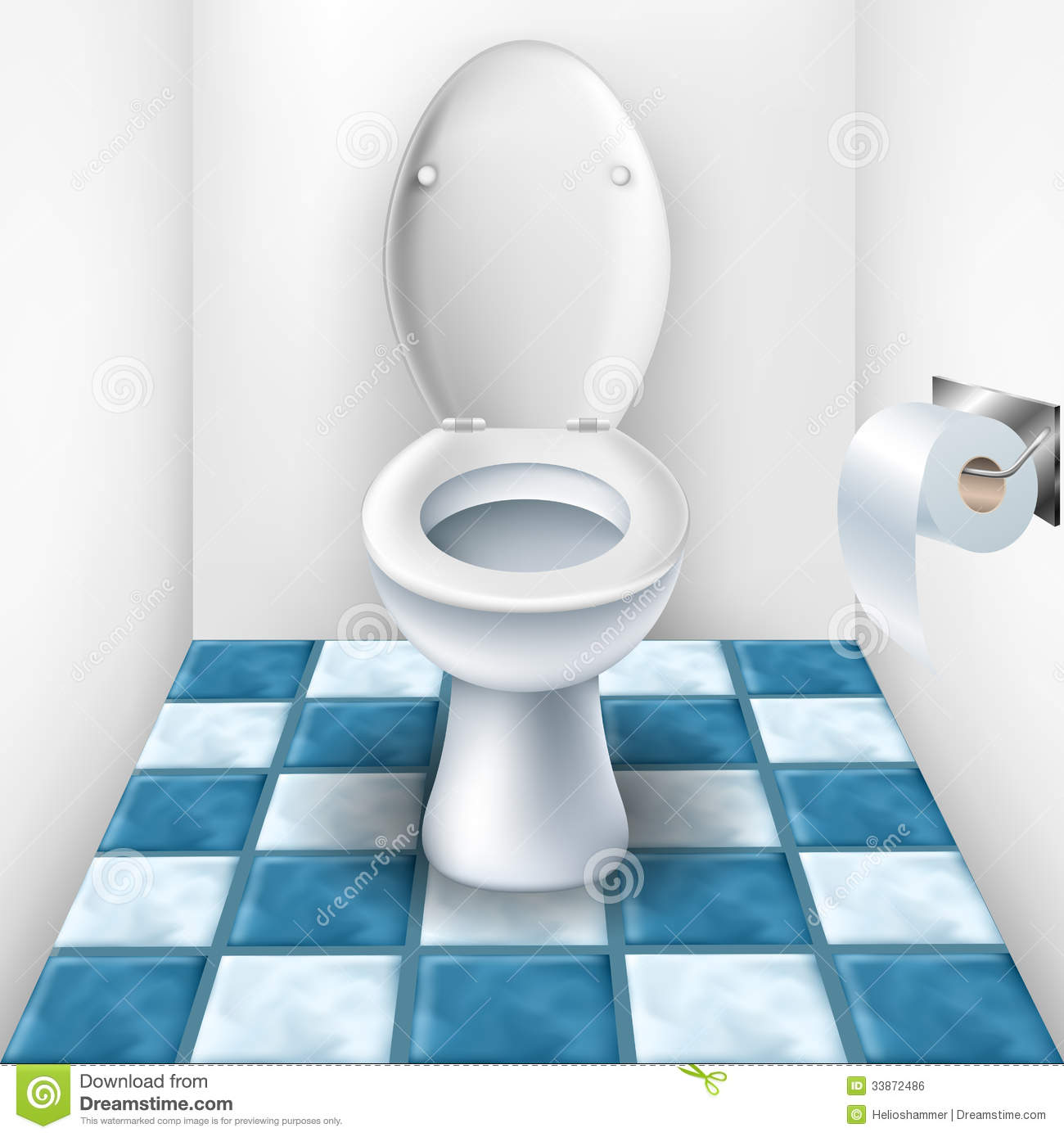 Bathroom With Toilet And Tile Pattern Stock Vector - Illustration of ...