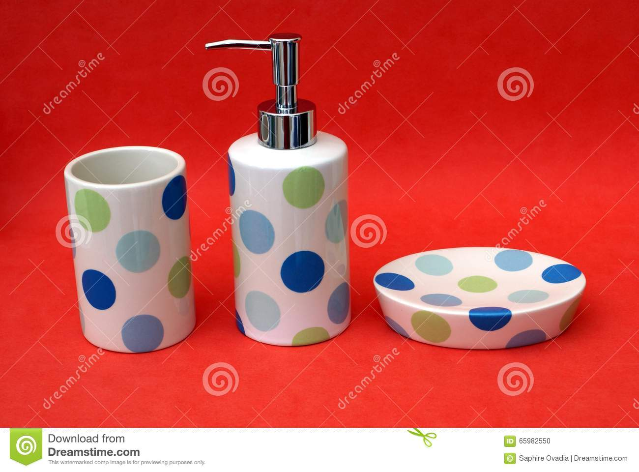 Bathroom Toiletries. Set Of Bathroom Toiletry.