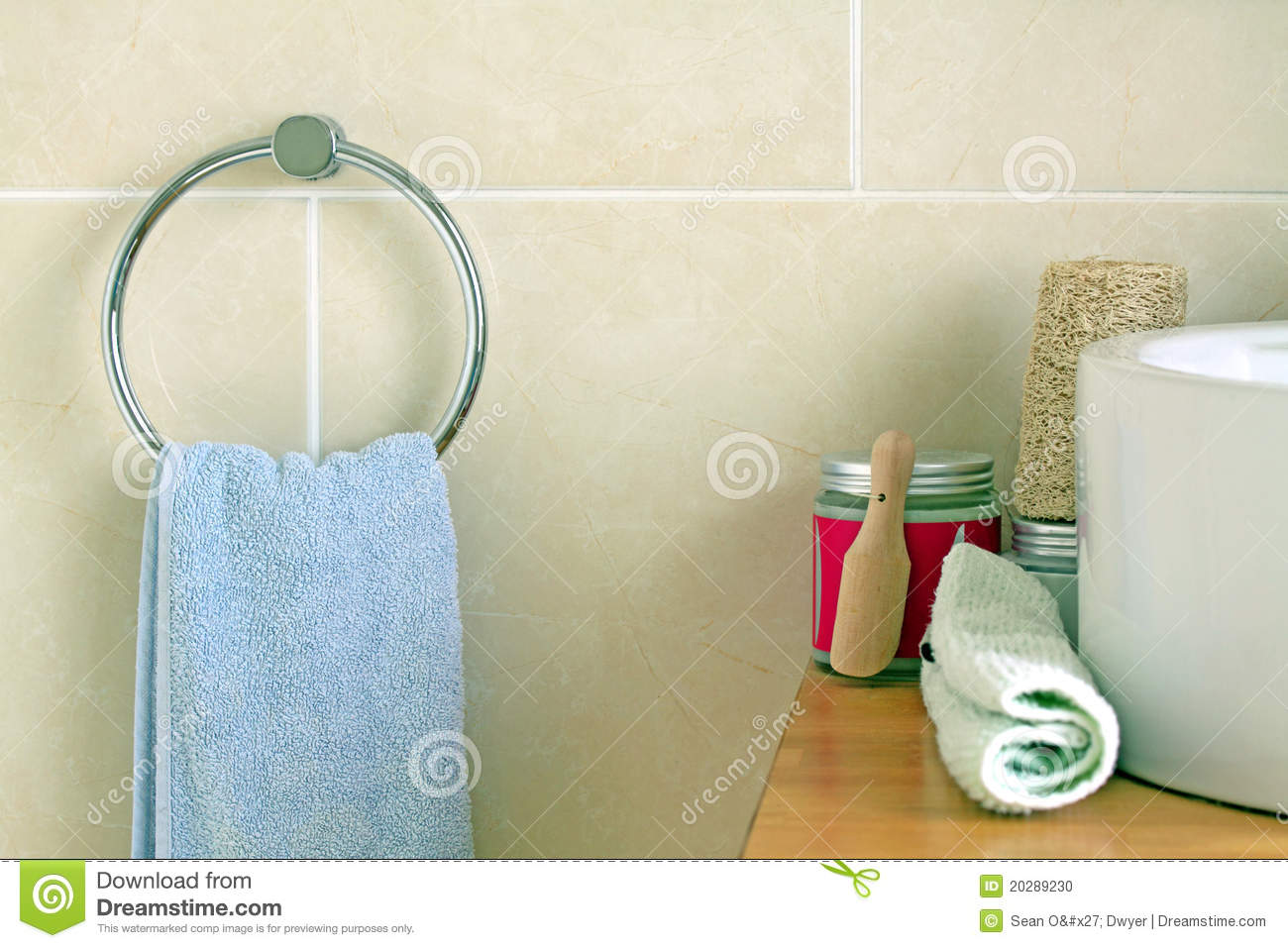 Bathroom Towel And Salt Stock Photo Image Of Shower 20289230