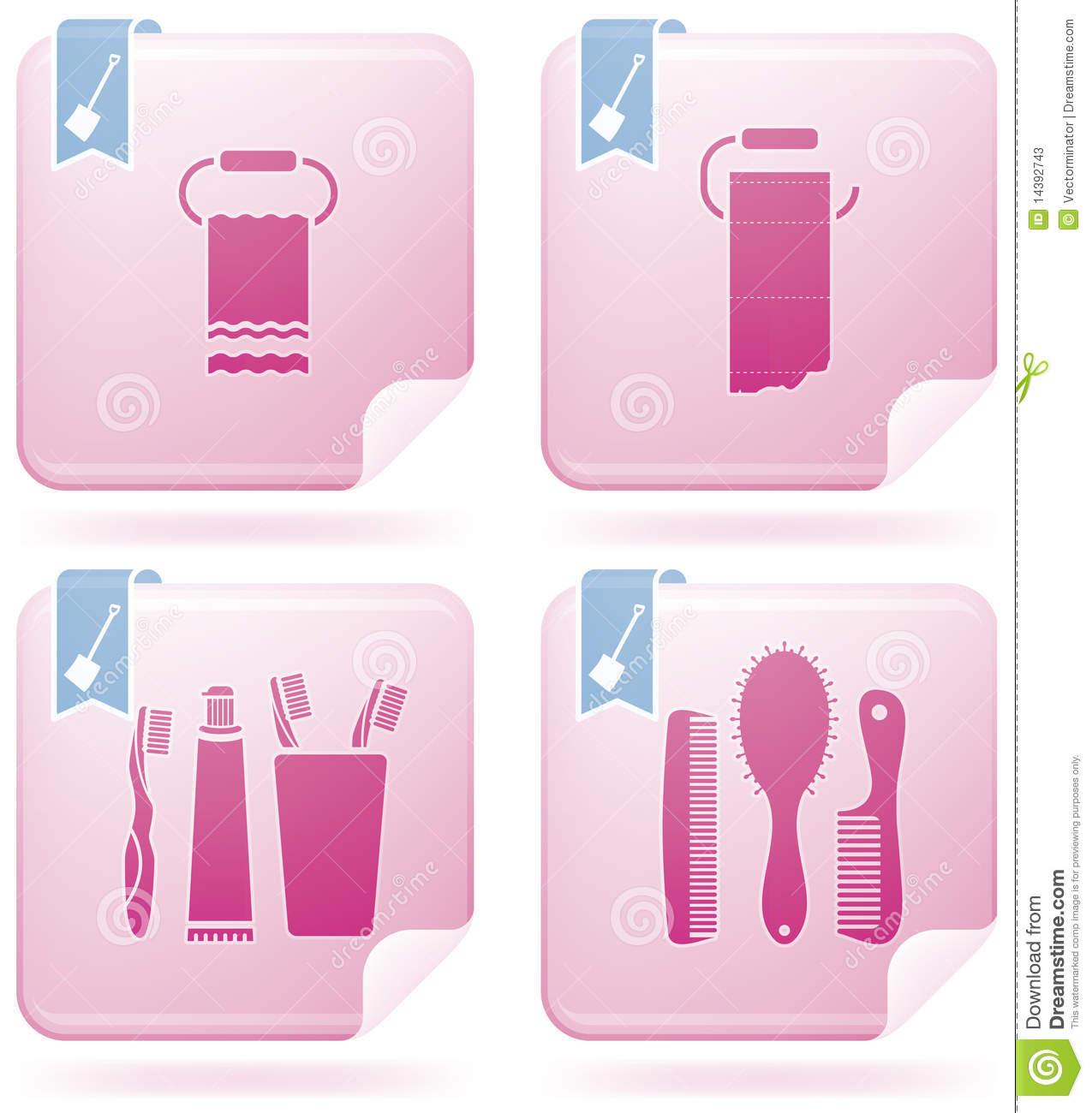 Bathroom utensils stock photos image 14392743 for Bathroom utensils