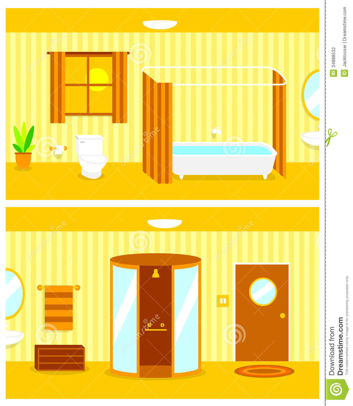 Cartoon Pictures Of Bathrooms: Bathroom Stock Vector. Image Of Clean, Mirror, Flush