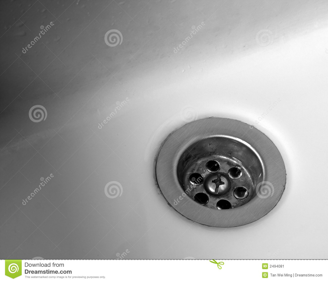Bathroom Washbasin Drain Stock Image Image Of Washbasin
