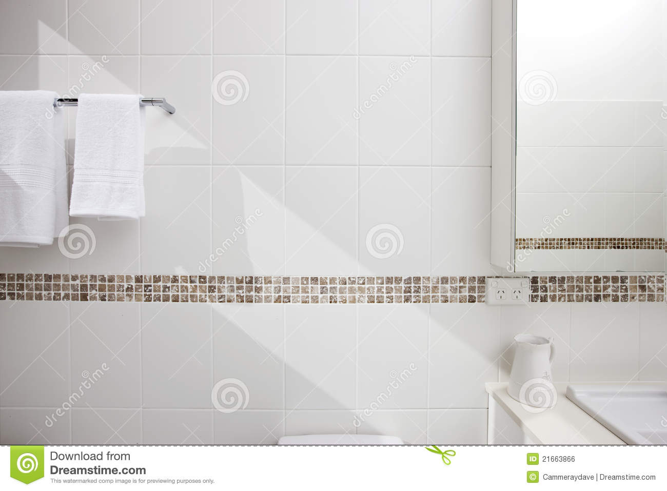 Bathroom White Tiles Background Stock Photo Image Of