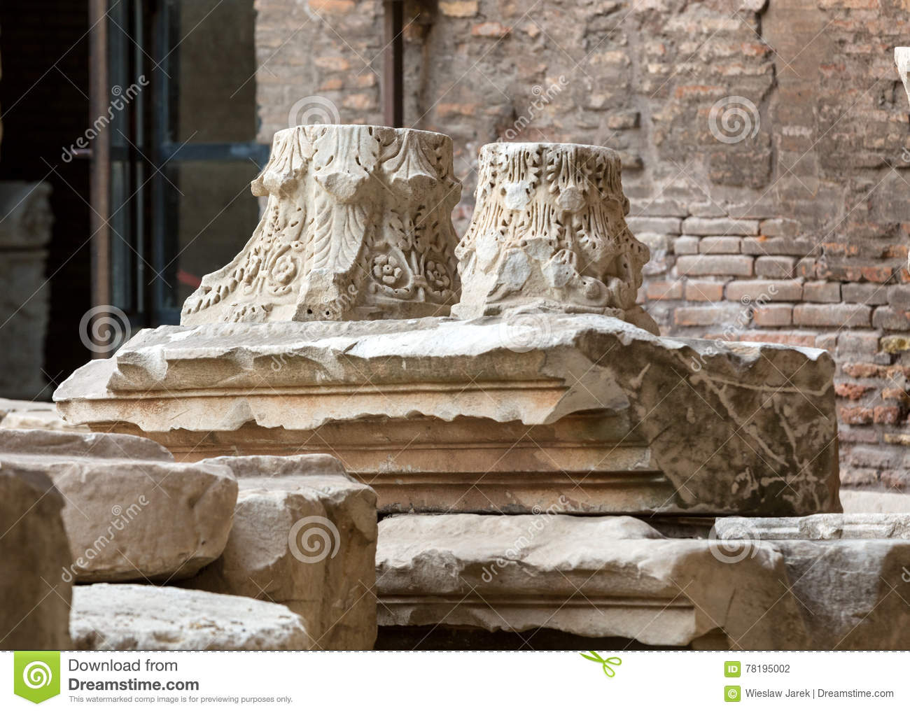 The Baths Of Diocletian Thermae Diocletiani In Rome Stock Photo ...