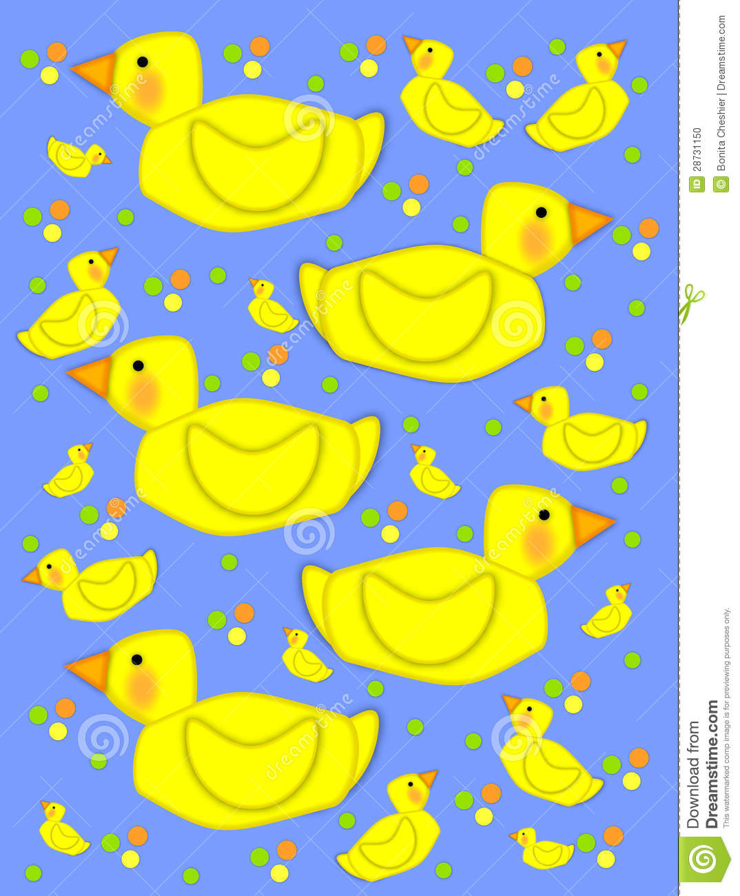 Bathtime duck on baby blue stock illustration. Illustration of cute ...