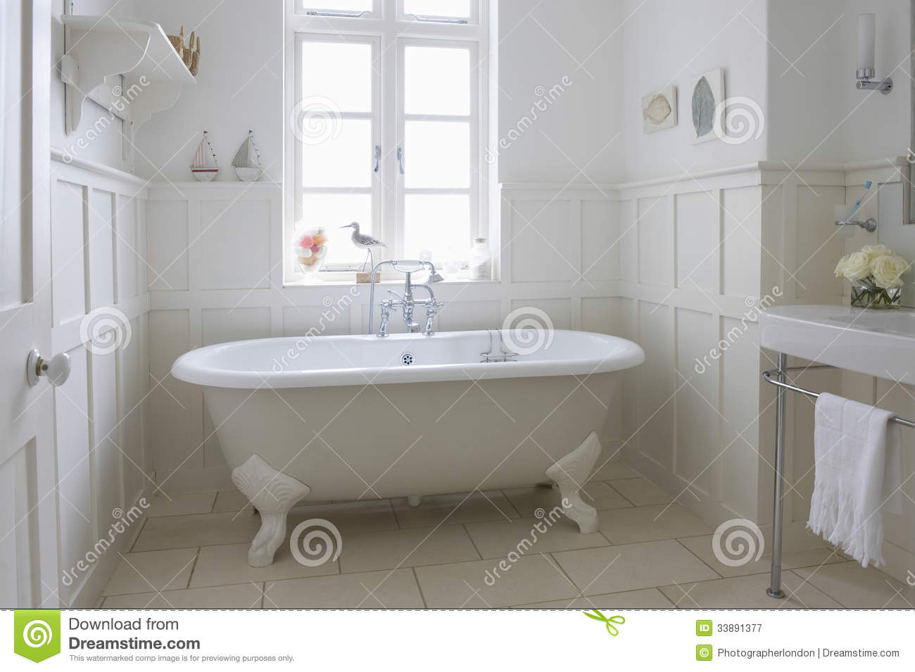 Bathtub In Bathroom Royalty Free Stock Photography Image 33891377