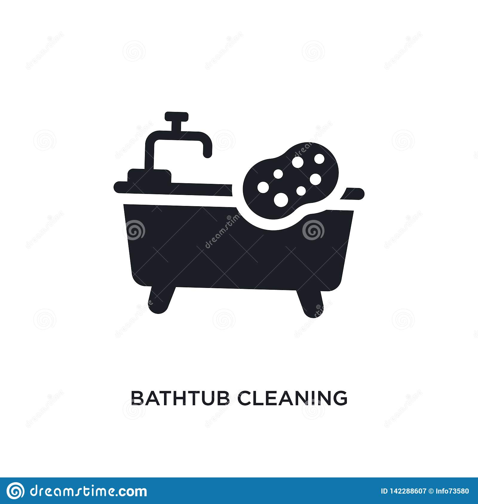 bathtub cleaning isolated icon. simple element illustration from cleaning concept icons. bathtub cleaning editable logo sign