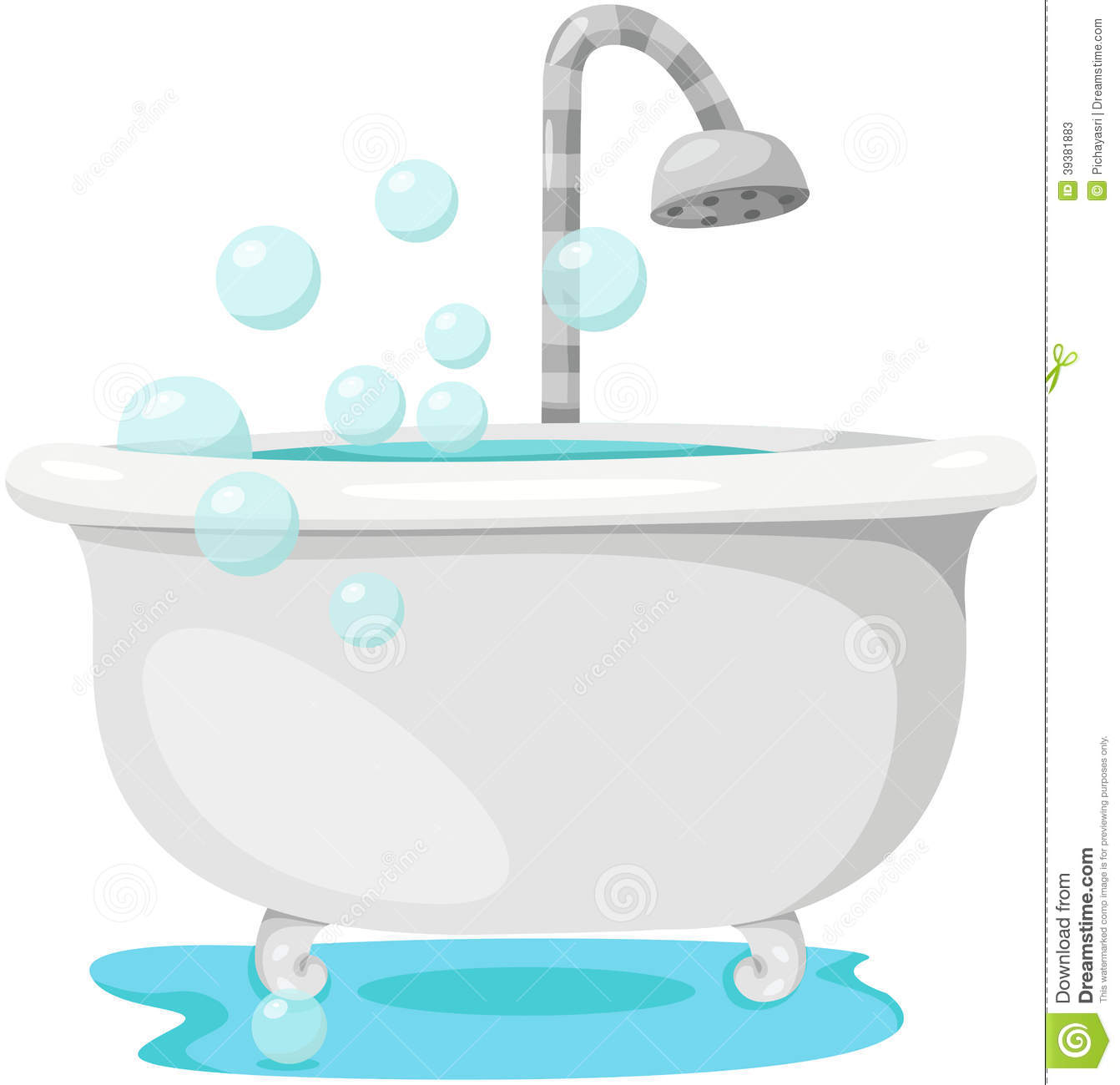 Bathtub Stock Vector Image 39381883