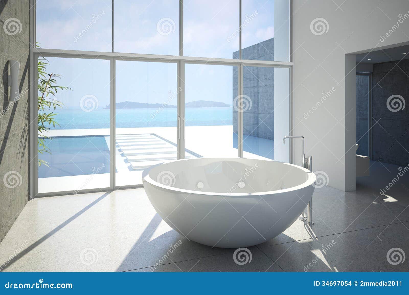 Bathtube stock illustration. Illustration of modern, interior - 34697054