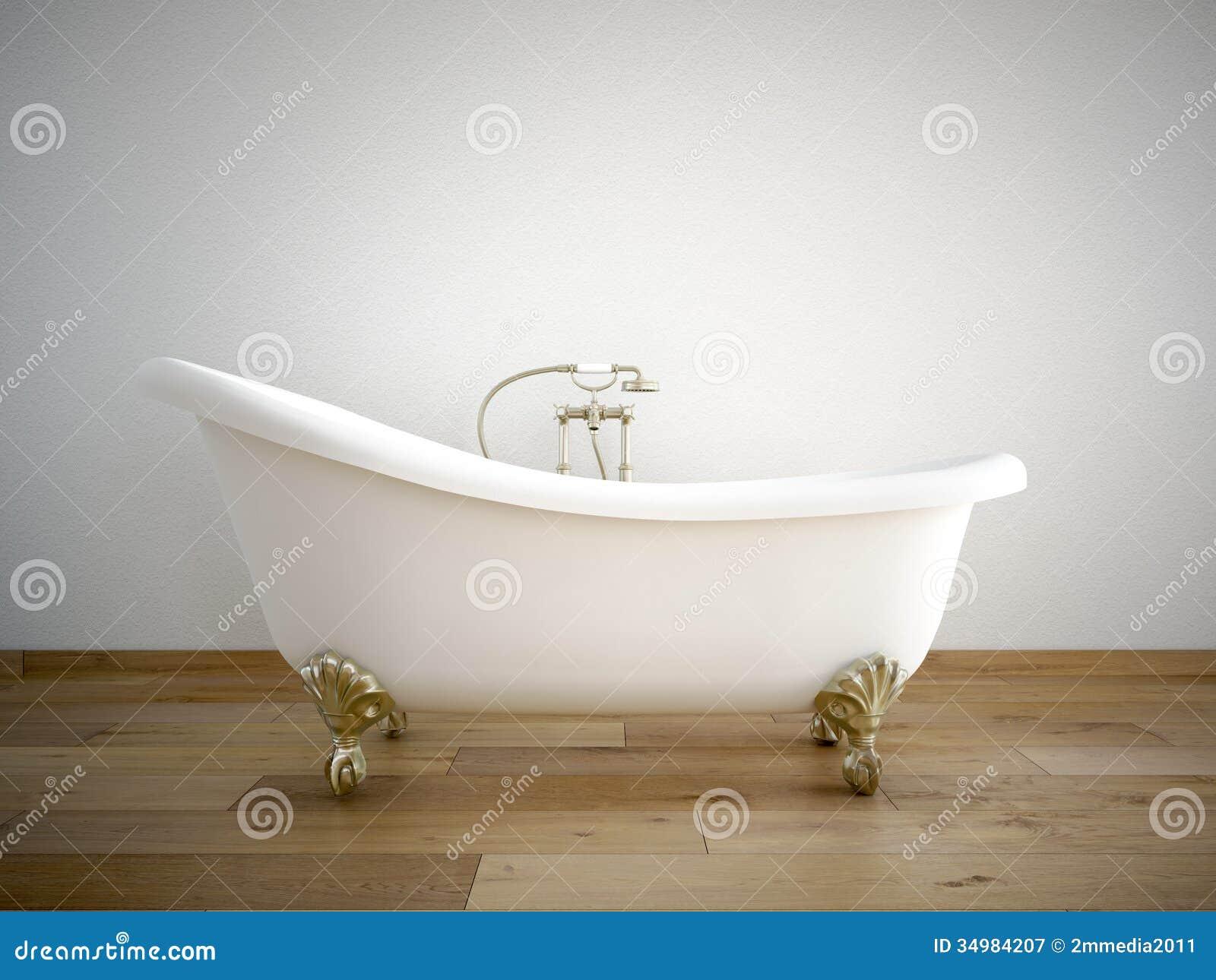 Bathtube stock illustration. Illustration of water, architecture ...
