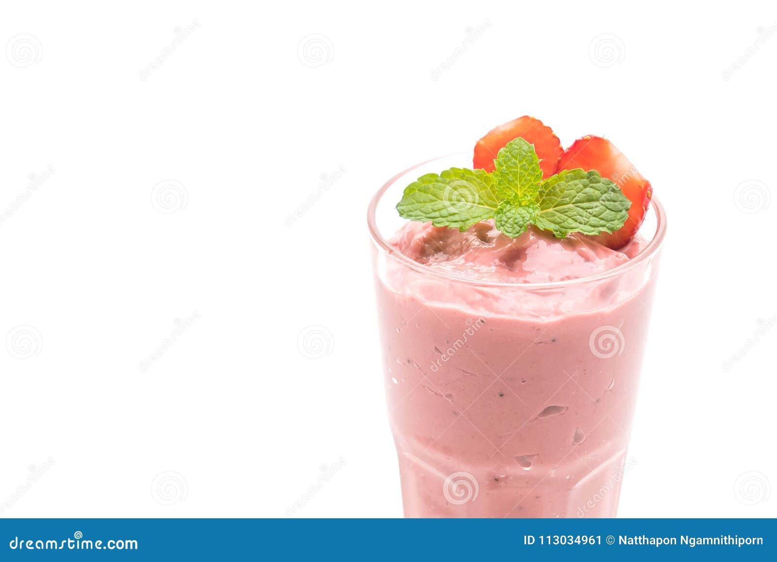 Batido de leche de los smoothies de la fresa