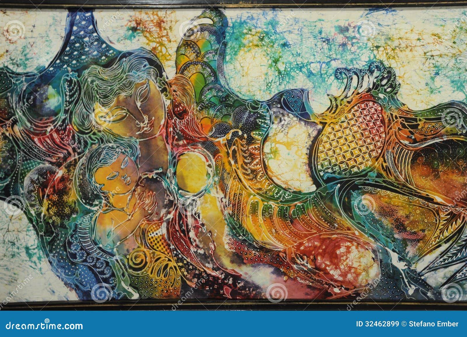 Batik Art Work Of Yogyakarta Royalty Free Stock Images - Image ...
