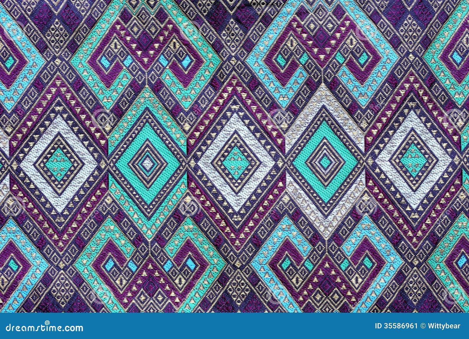 Batik Cloth Fabric Texture Background Stock Image