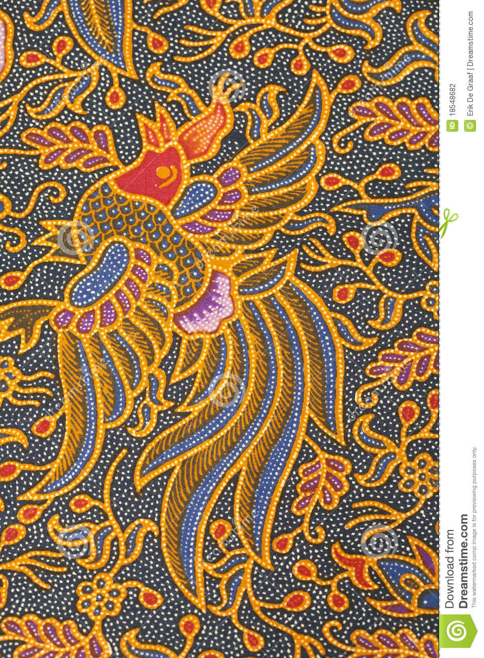 Batik Design Stock Photo. Image Of Close, Craft, Detail
