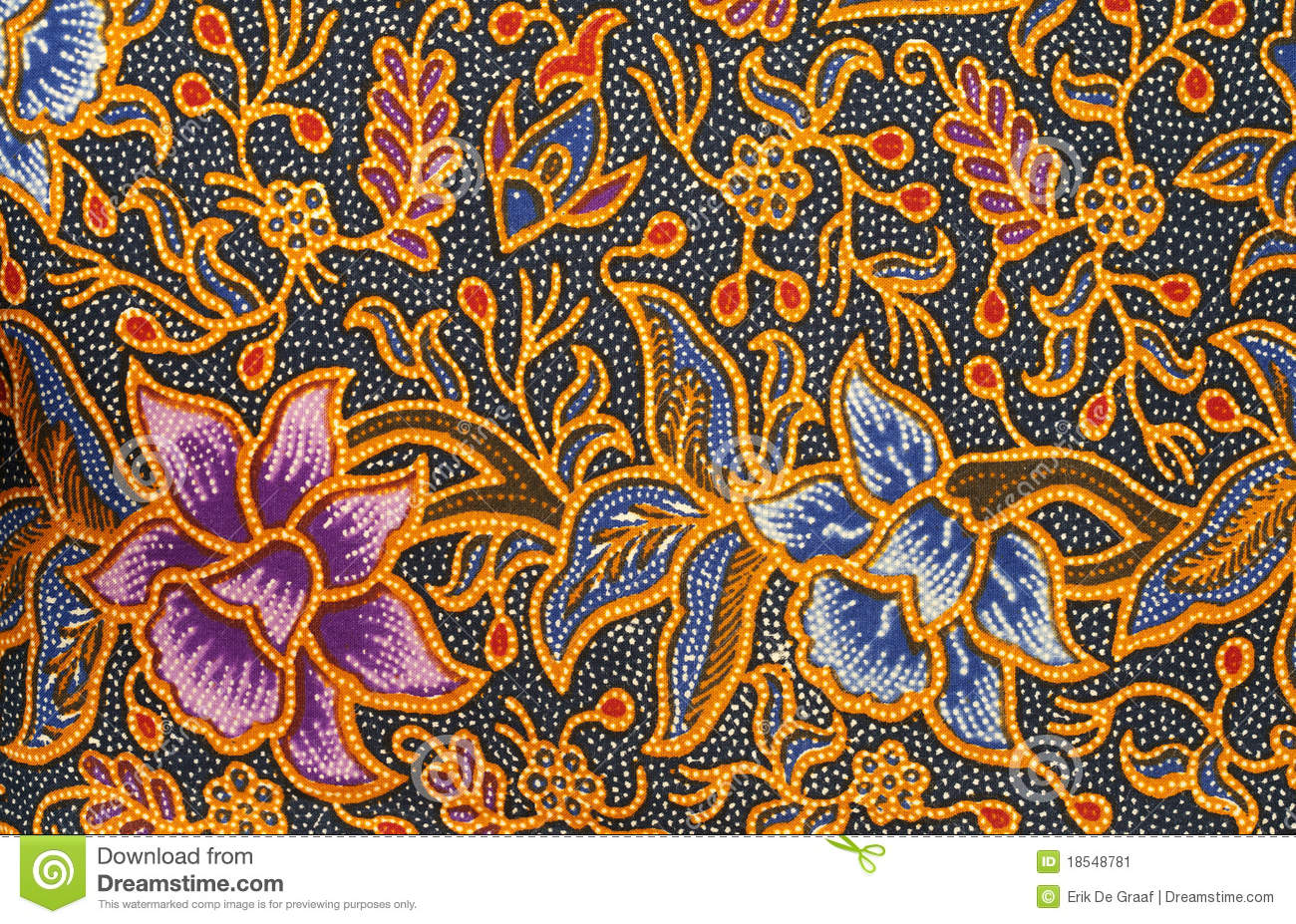 Detail of a batik design from Indonesia.