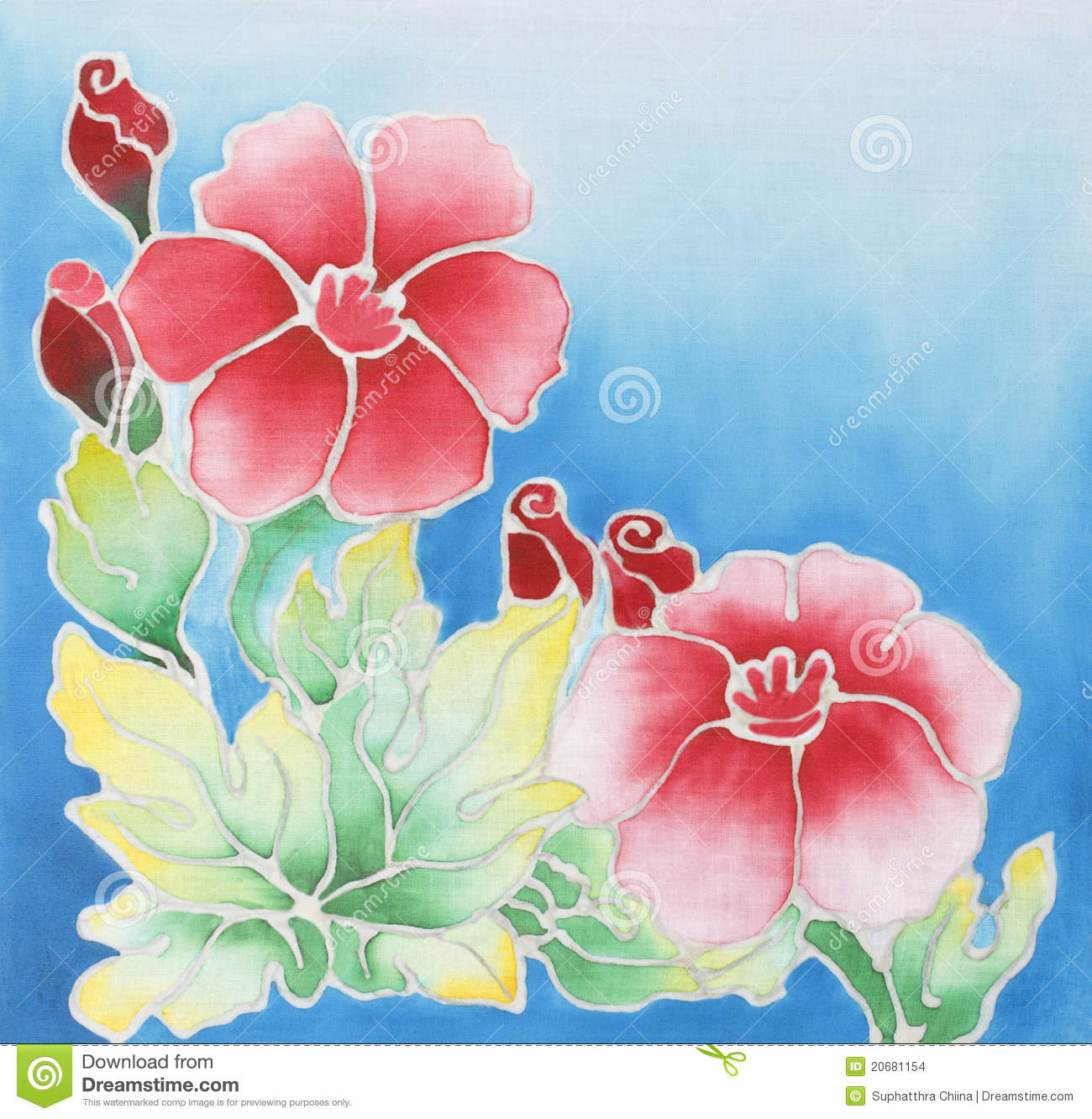 Batik Design Stock Illustration. Illustration Of Cotton