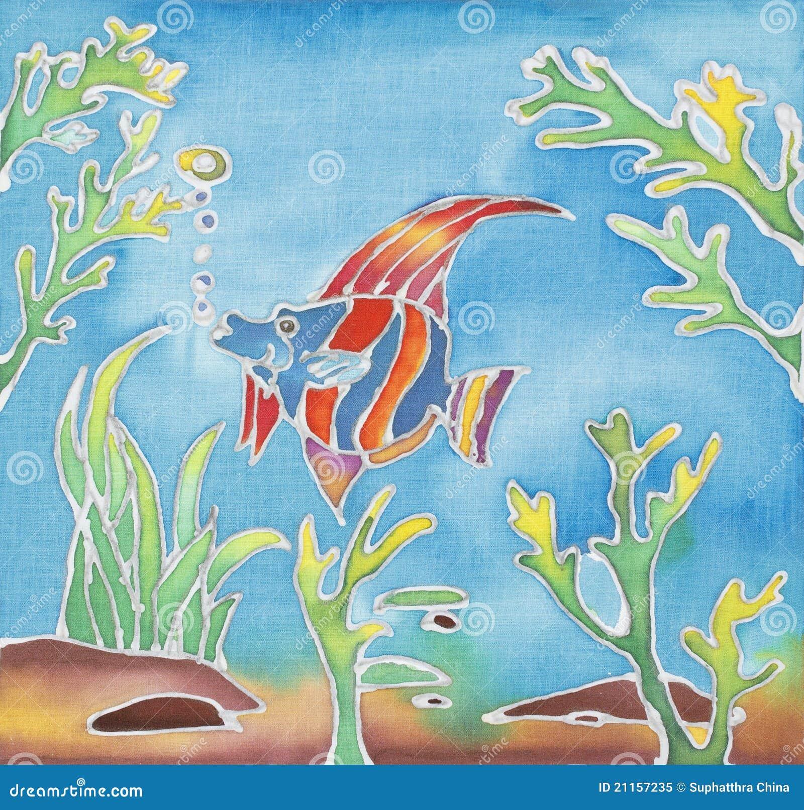 Batik Design Stock Image. Image Of Textile, Backgrounds