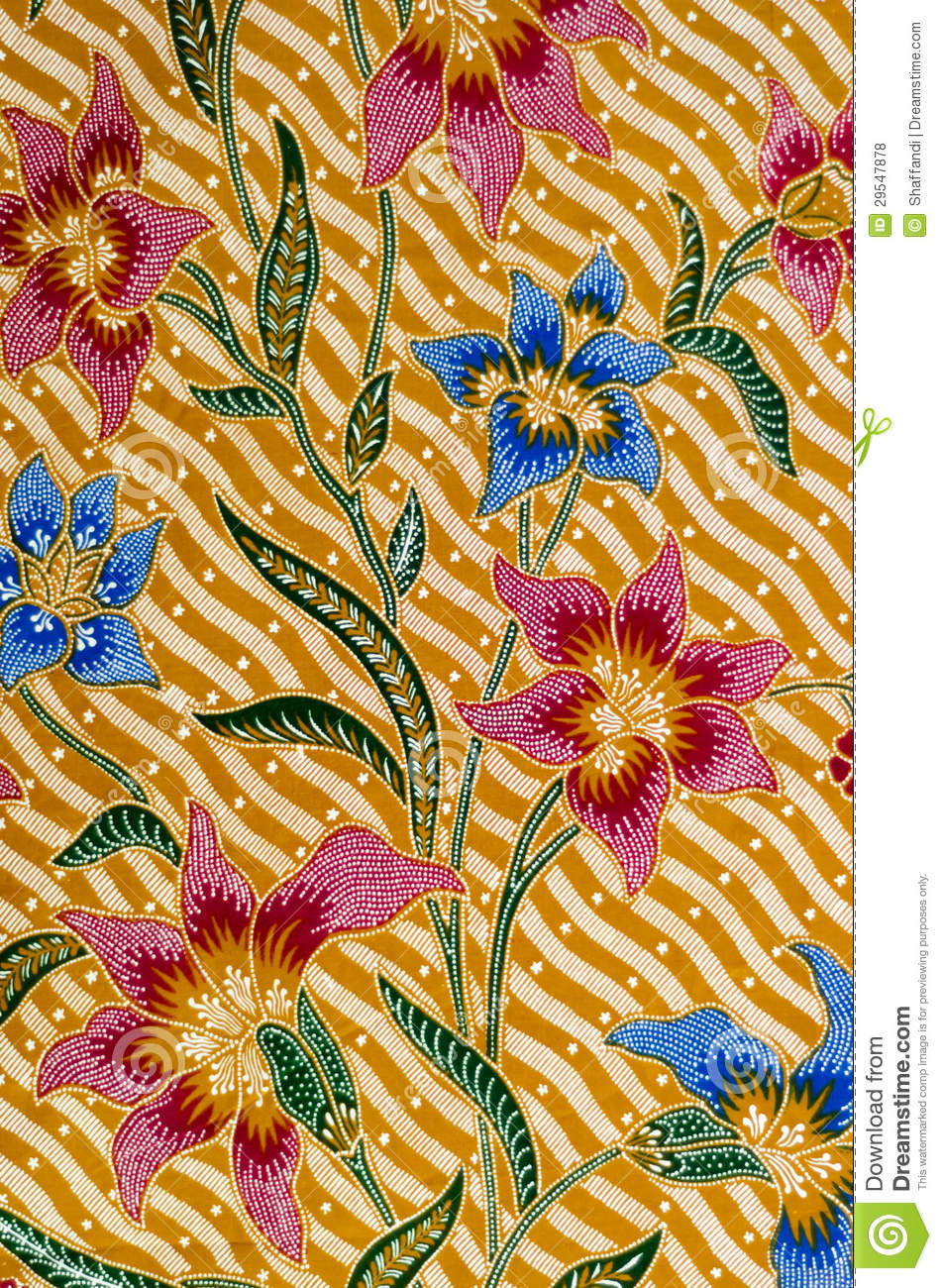 Batik Design Stock Photo. Image Of Intricate, Floral