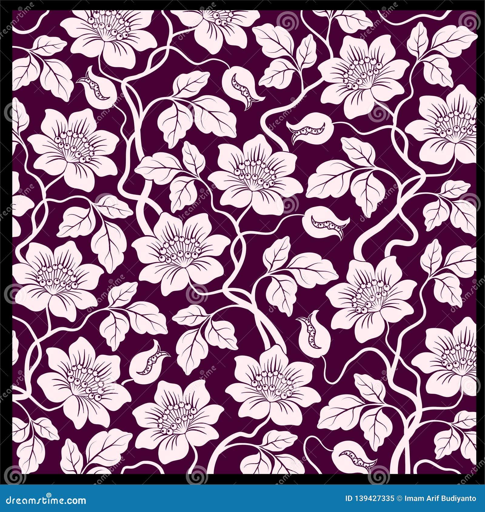 Vector Batik Design Style Patterns Stock Illustration