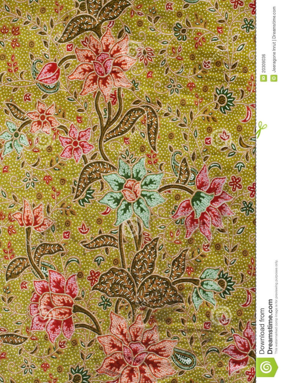 Batik Design In Thailand Stock Photo. Image Of Colorful