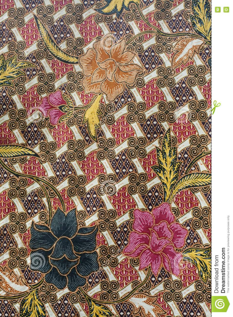 Batik Design In Thailand Royalty Free Stock Photography