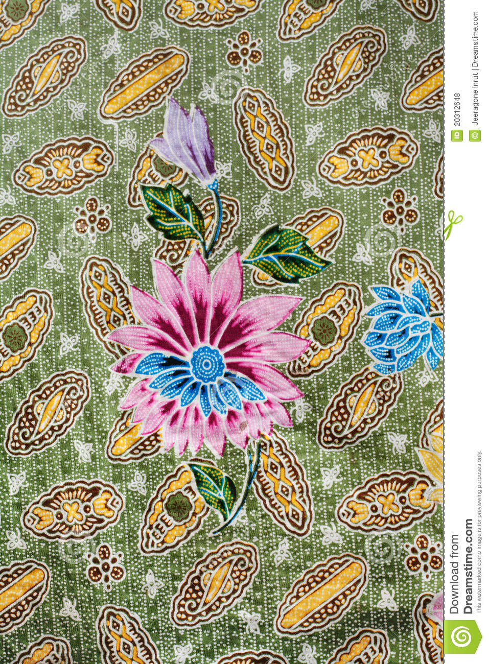 Batik Design In Thailand Royalty Free Stock Photos