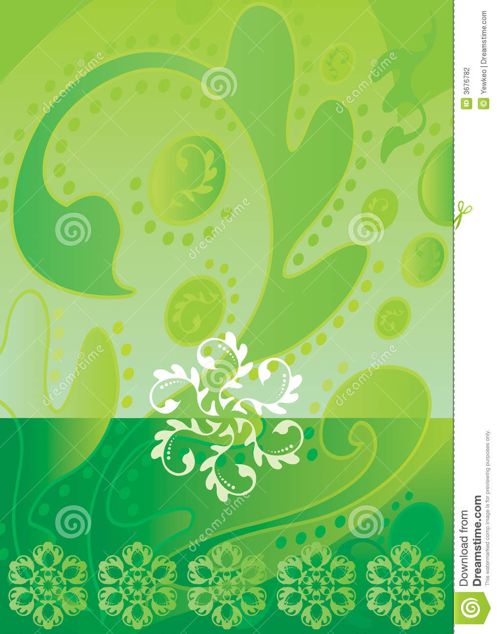 Download Batik_green illustrazione vettoriale. Illustrazione di artistico - 3676782