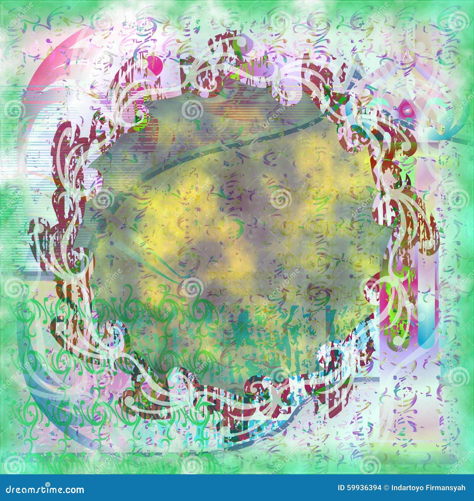 Stock Illustration: Batik Grunge Wallpaper Abstract Light Dirt Green ...