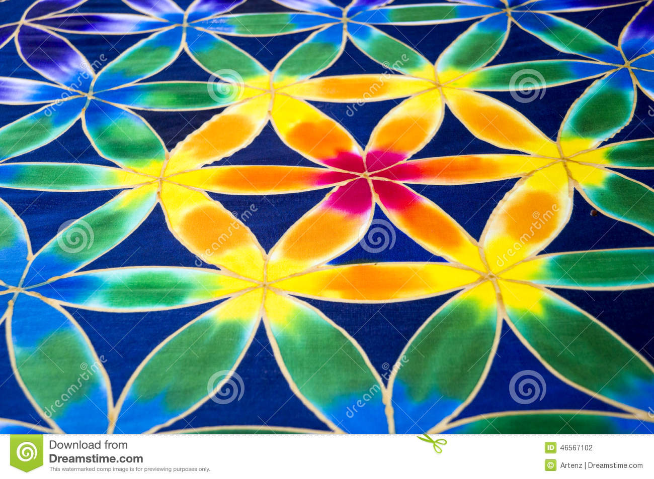 download batik muster stockfoto bild von blume auslegung decorate 46567102 - Batiken Muster