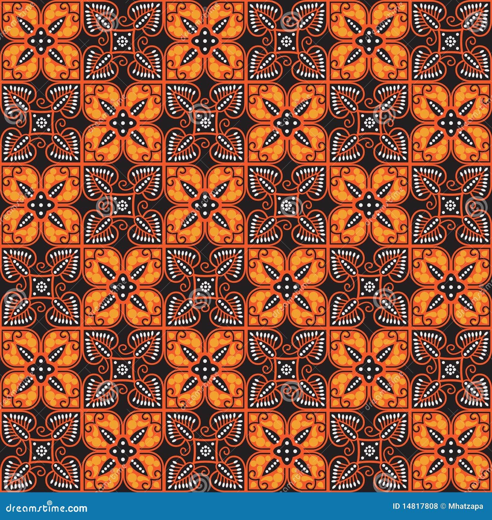 Batik Pattern Stock Vector. Illustration Of Backdrop