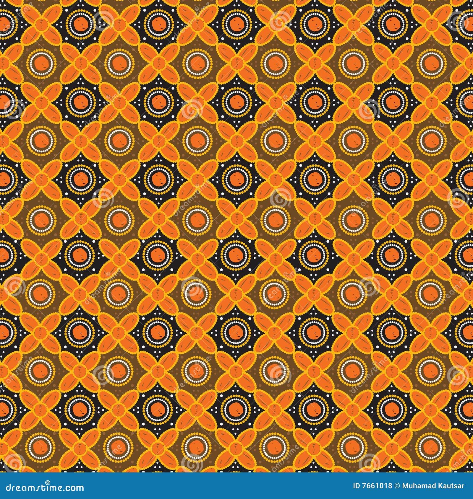 Batik Pattern Background In Vector Royalty Free Stock