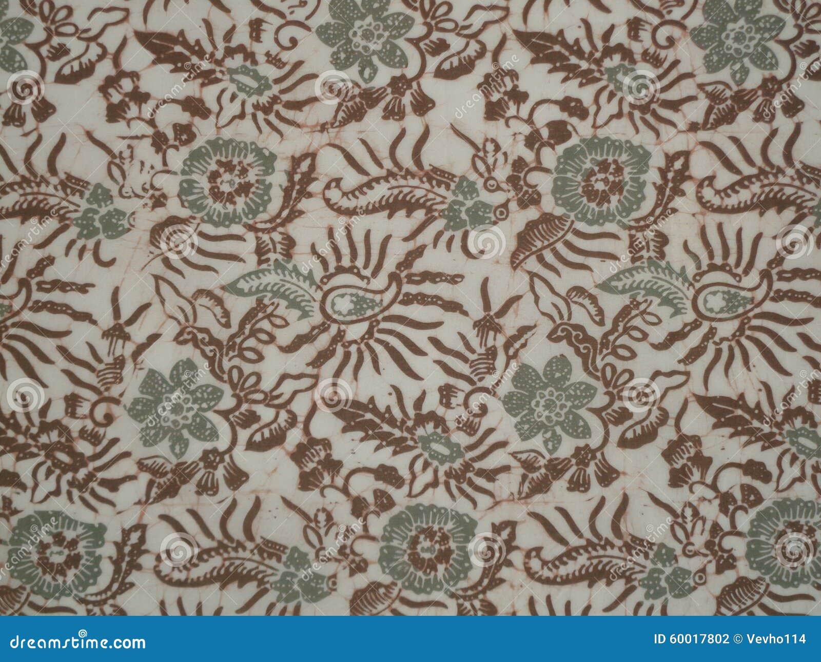 Indonesian Abstrak Batik: Batik Pattern Stock Photo