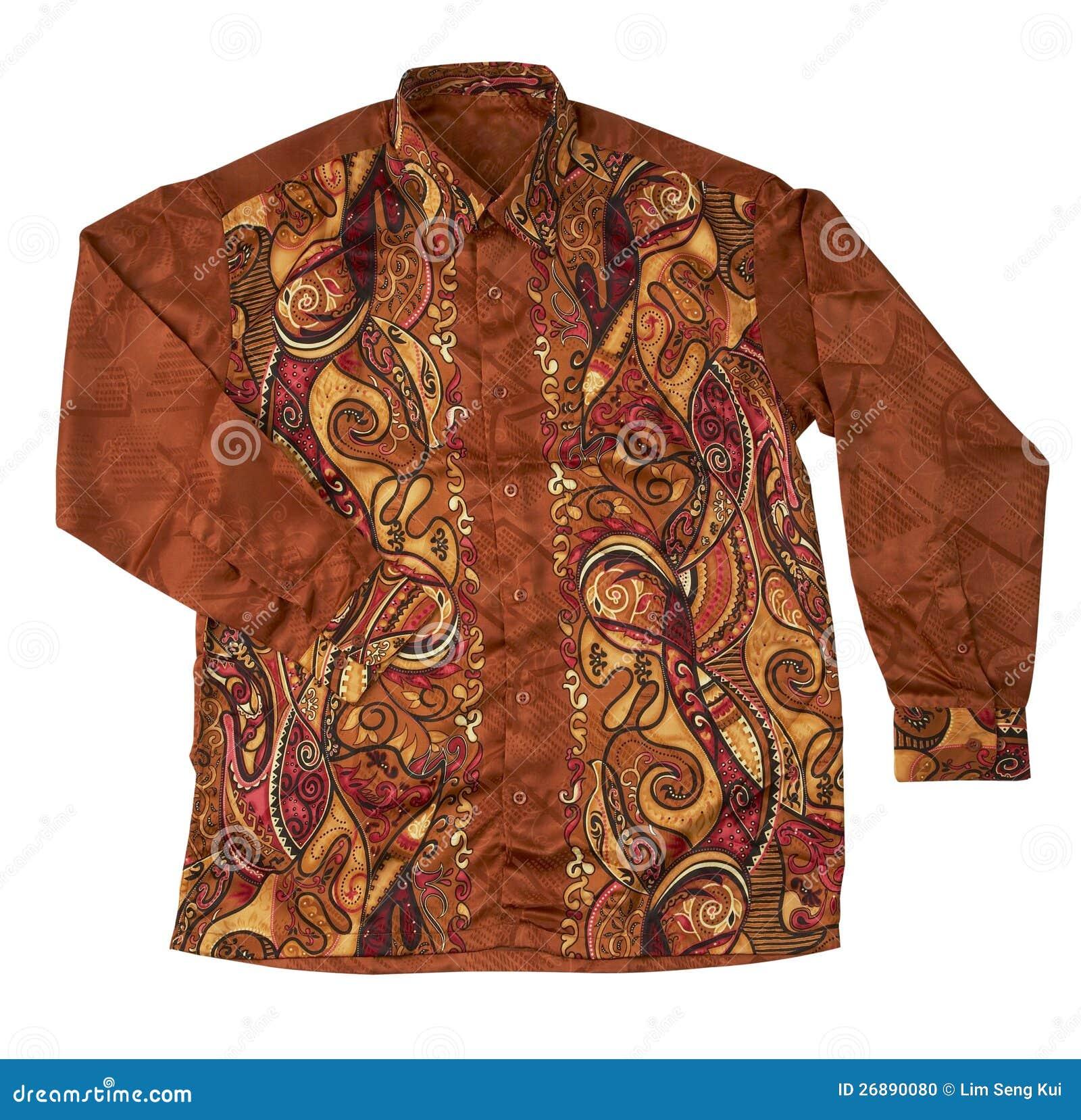 Batik Shirt Stock Photo