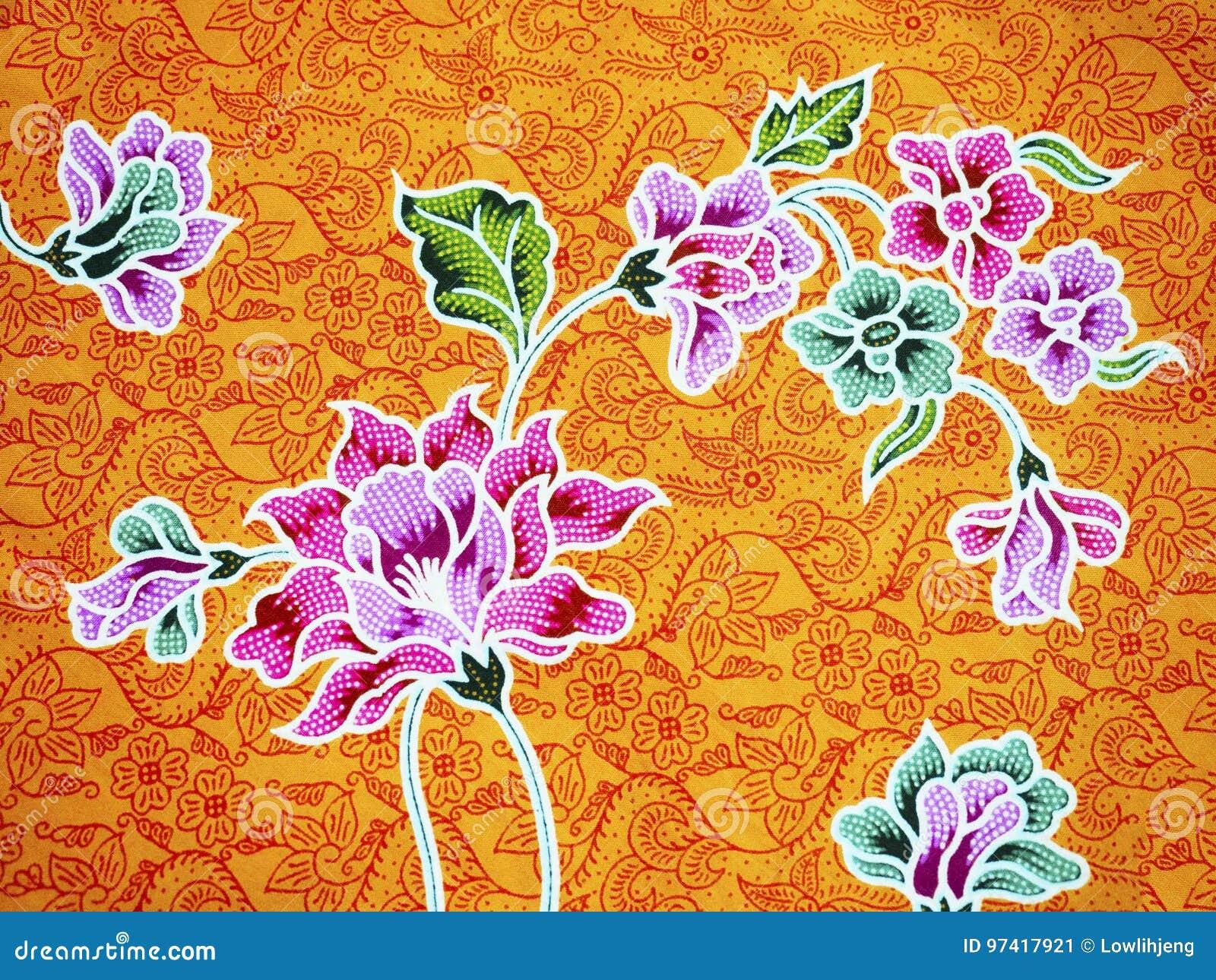 Download Batik stock image. Image of cotton, flora, color, asia - 97417921