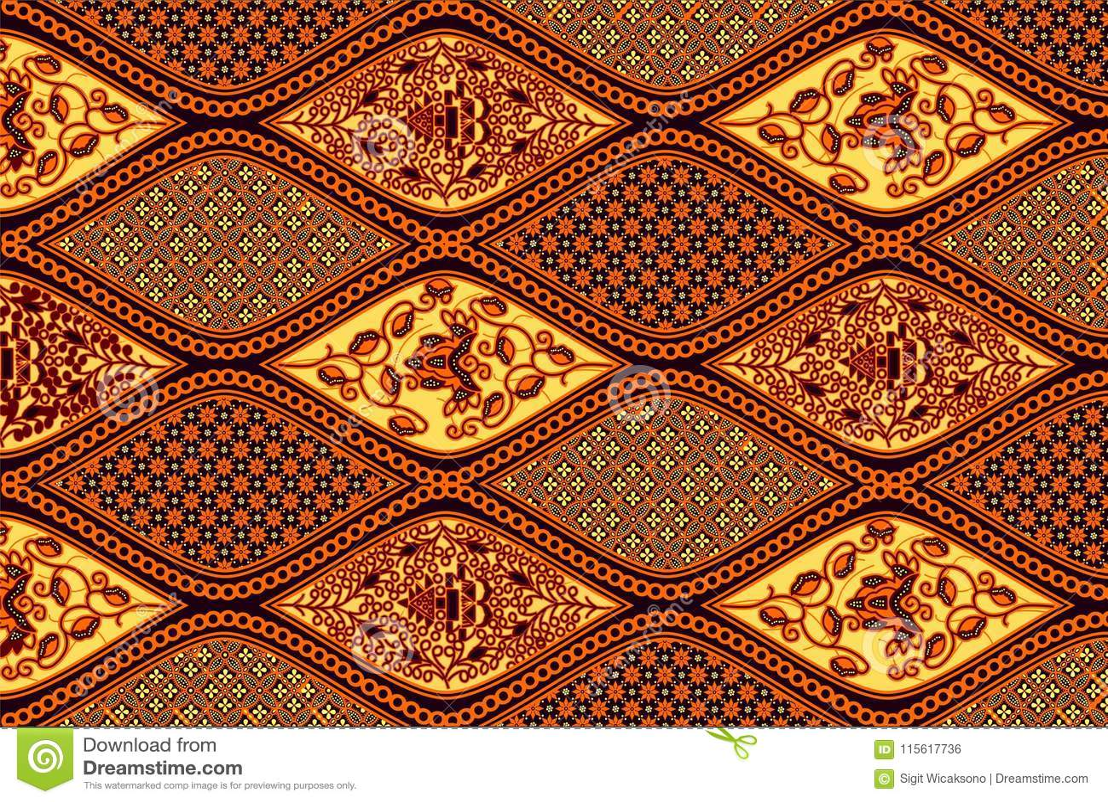 Batik solo pattern stock illustration. Illustration of indonesian ... 45e112ea11