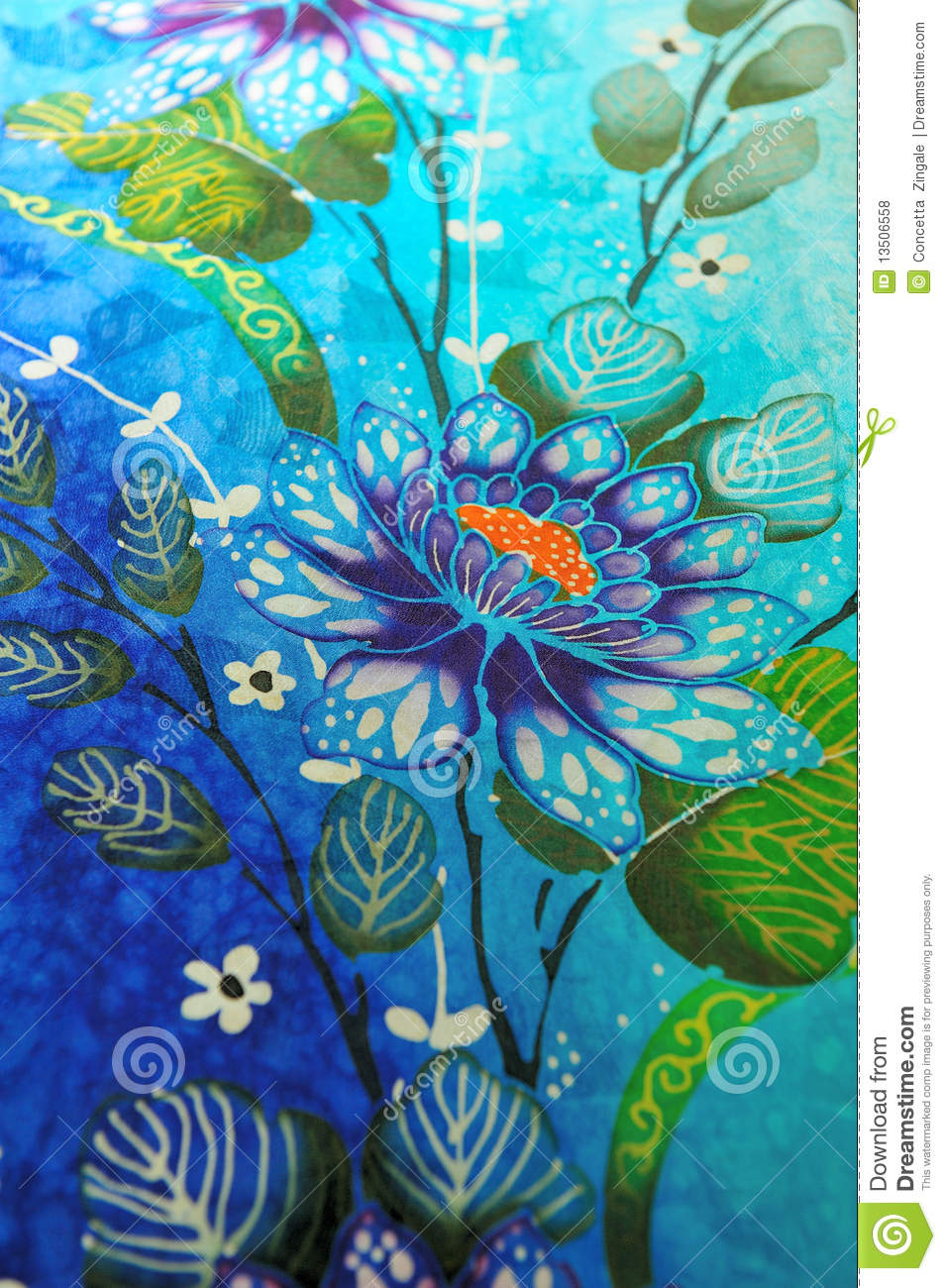 This image was made in a batik shop in kuala lumpur, the fabric has a ...