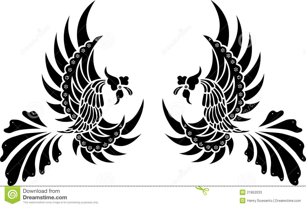 ... Tribal Bird Isolated Vector in Black and white. comes with EPS file