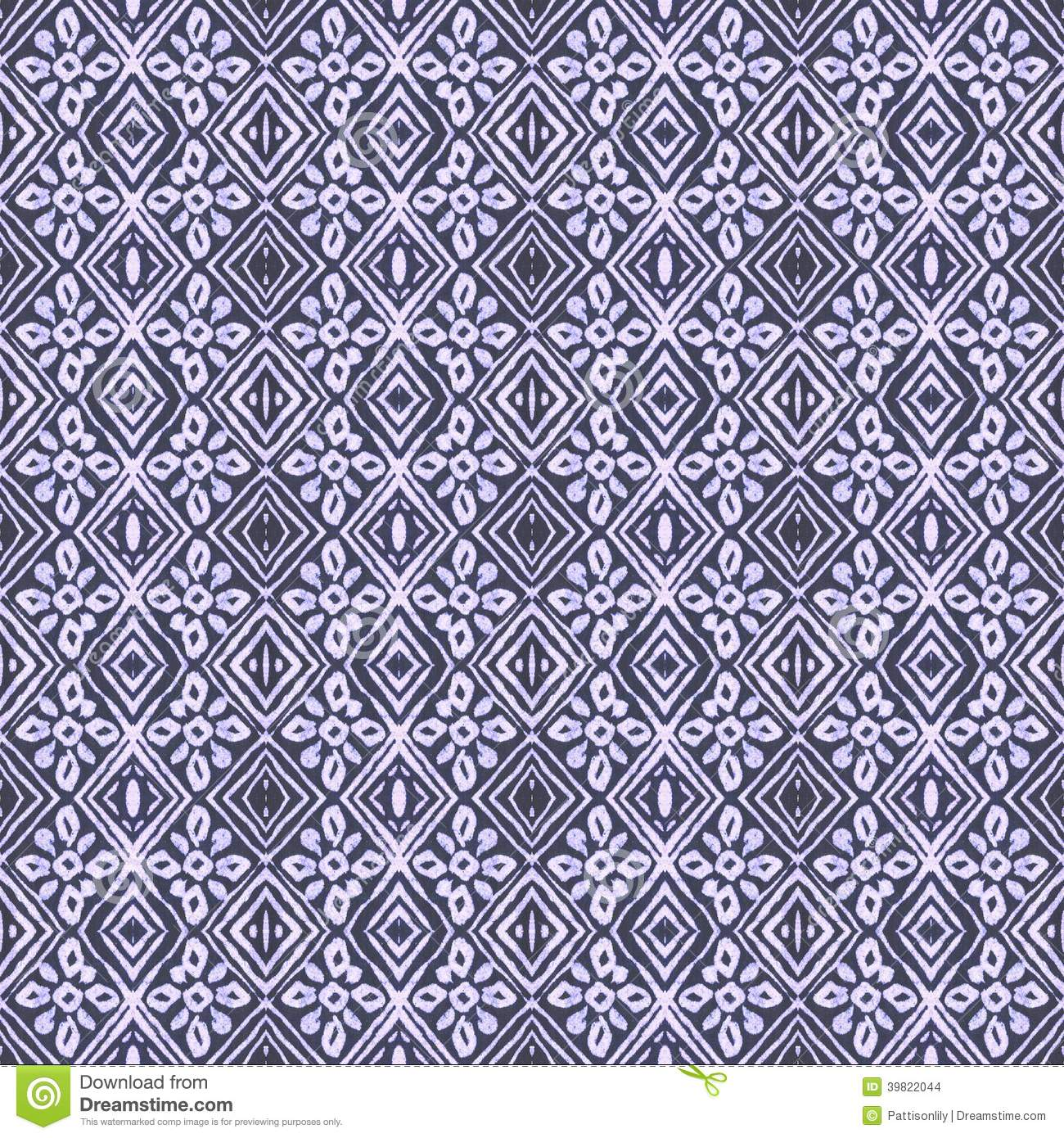 ... tile pattern inspired by African, tribal and indigo batik textiles