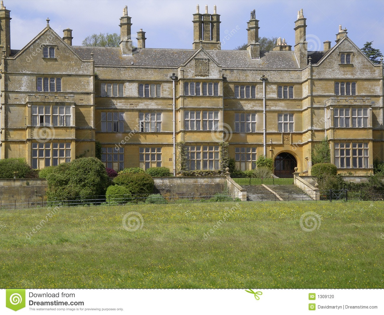 Batsford Hall Stately Home England Stock Photo Image