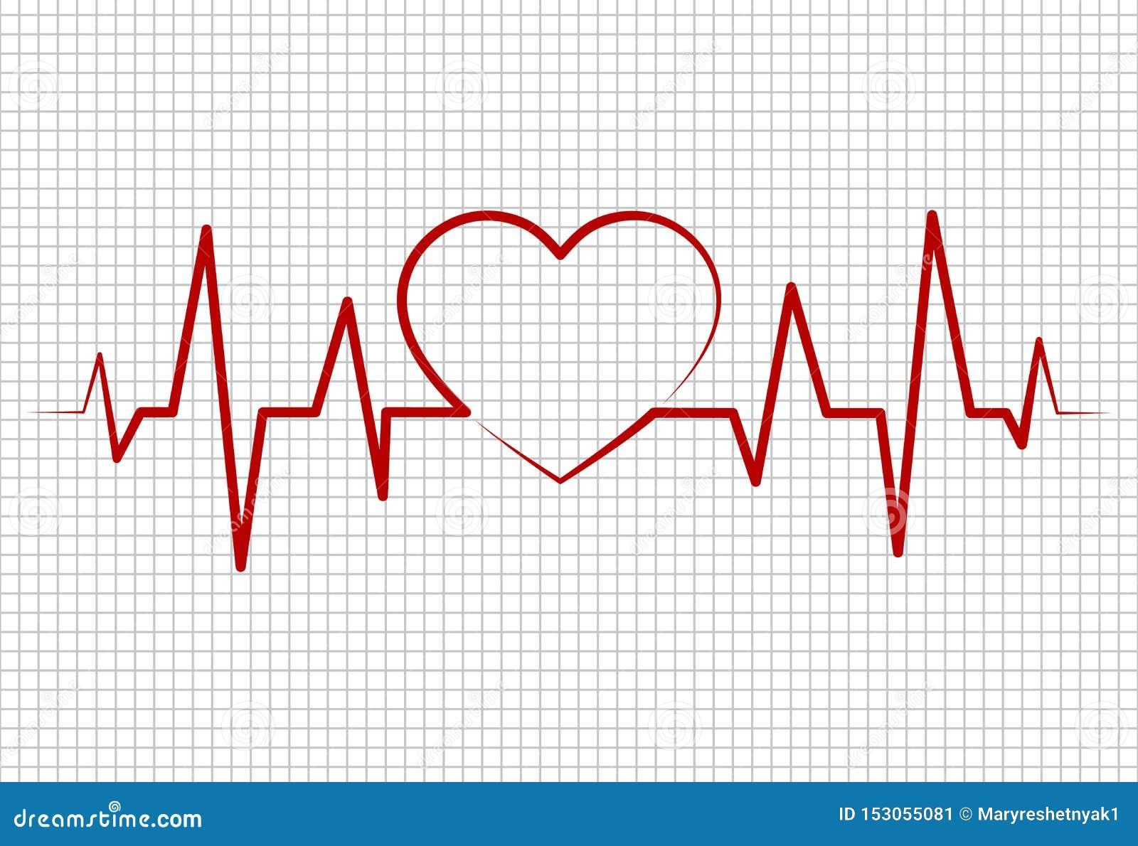 Battements de coeur, cardiogramme Impulsion de ligne de vie formant la forme de coeur Conception m?dicale Fond de Healthcaremedic