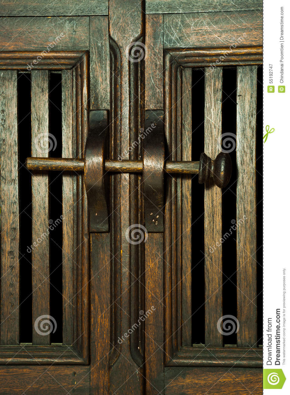 Old Fashioned Wood Door Latch