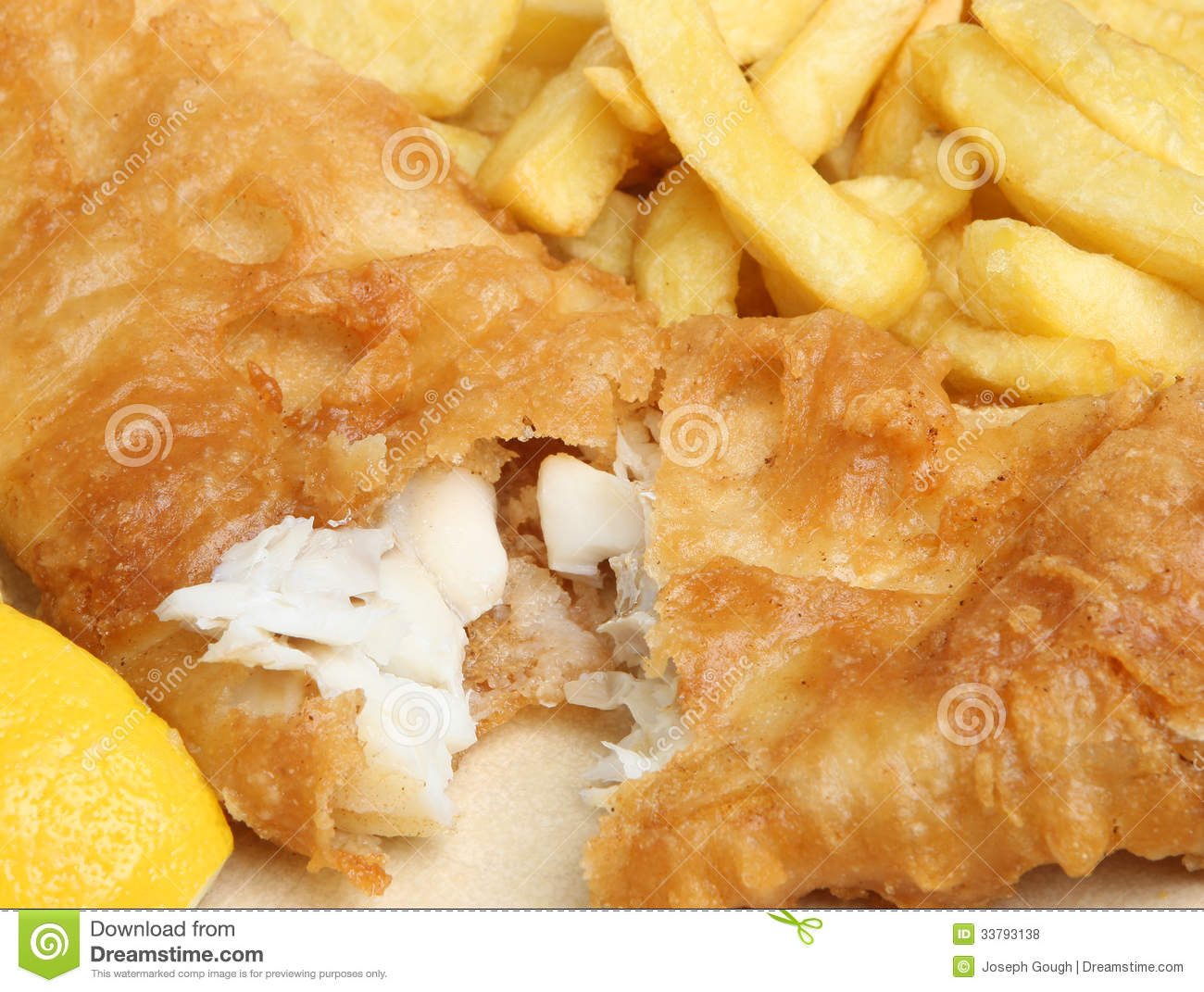 Battered fish and chips stock photo image of deep macro for Deep fry fish batter